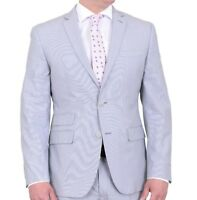 Bar III Slim Fit Light Grey Striped Two Button Sportscoat Blazer 42L