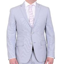 Bar III Slim Fit Light Grey Striped Two Button Sportscoat Blazer 42L