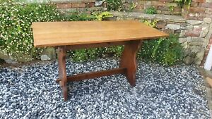 Vintage Oak Top Refectory Dining Kitchen Table