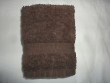 RALPH LAUREN CLASSIC CHOCOLATE BROWN (1PC) WASHCLOTH SUPIMA COTTON  11 X 12