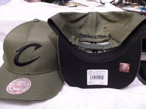 NBA CLEVELAND CAVS HAT CAP MITCHELL NEST MILITARY GREEN (OD) SNAPBACK OSFM NWT