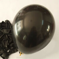 12 inch 100x Black Pearl Latex Thick Party Balloons 3.2g Helium Floating