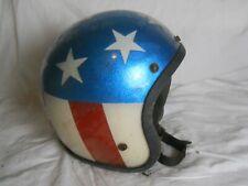 Vintage Stars and Stripes Metalflake Motorcycle / Snowmobile Helmet, (D.S.)