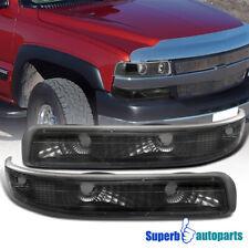 For 1999-2002 Chevy Silverado Bumper Lights Signal Lamps Black 2000-2006 Tahoe
