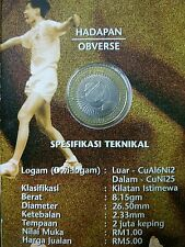 2000 Thomas Cup 1 Ringgit Coin Card.