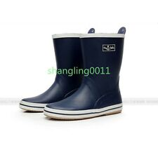 Mens New Fashion Rubber Waterproof Flats Rainboots Shoes Outdoor Fishing Boots