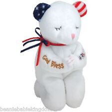 TY BEANIE BABY * AMERICAN BLESSING * - PRAYING STARS & STRIPES RARE BEANIE BABIE