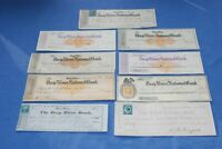 US Revenue Stamped Paper Old Checks Accumulation as shown BlueLakeStamps Fun #3