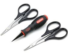 Powerhobby RC Body Tools Reamer & Scissors Set Curved Straight