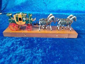 *M2 BRUMM English Mail Coach carrozza con cavalli posta inglese in metallo