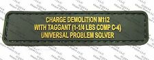 C4 PROBLEM COMBAT ISAF USA BADGE MORALE PVC MILITARY HOOK & LOOP PATCH