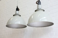 Large Vintage Industrial Mushroom Grey Pendant Lights By Thorlux 10 Available