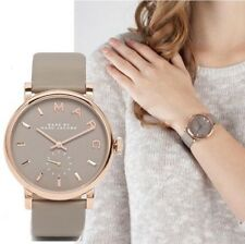 Marc By Marc Jacobs MBM1266 Baker Rose Gold Tone Gray Leather Women's Watch +box