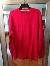 Mens Polo Ralph Lauren Red with White logo waffle thermal, XL