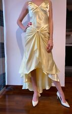 Princess dress ceremony, color yellow gold, silk satin, size S, new with tags