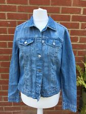 woman denim jacket size 10 distressed look , jacket size 10 from Dorothy Perkins