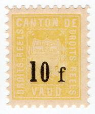 (I.B) Switzerland Revenue : Local Duty Stamp 10Fr (Vaud)
