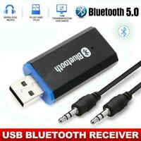2-in-1 Wireless Audio Aux USB Bluetooth 5.0 Receiver Adapter 3.5mm Receiver A4E7