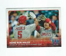 2015 Topps Update #US213 Home Run Halos Albert Pujols/Mike Trout Angels
