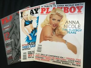 """PlayBoy Magazine"" LOT Anna Nicole SEX Pamela Anderson Mercedes McNab NEW! RARE!"
