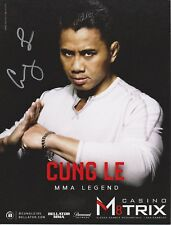 CUNG LE Signed 8x10 Photo MMA UFC Bellator