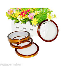 5pc 15mm 3D Sublimation Kapton Tape Heat Resistance Proof Tape for Heat Transfer