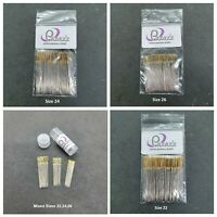 Cross Stitch Needles Gold Tail Bulk Buy Sizes 22, 24, 26, Pack 50, Mixed Pack 30