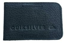 Quiksilver FOLDABLE M WALLET Mens GENUINE LEATHER Slim Wallet New - Black