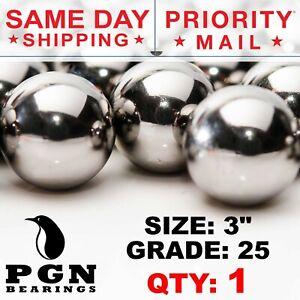 "3"" Inch G25 Precision Chrome Steel Bearing Balls Chromium AISI 52100"