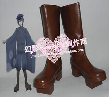 Vocaloid Kaito Senbonzakura Brown Halloween Long Cosplay Boots Shoes H016