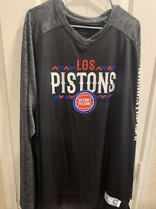 Detroit Pistons Los Pistons Fanatics Noches Shooting Shirt L/S 4xlt NWT