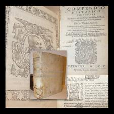 Nicolò Doglioni COMPENDIO HISTORICO UNIVERSALE 1605 Venezia Ritratto Catalogo Re