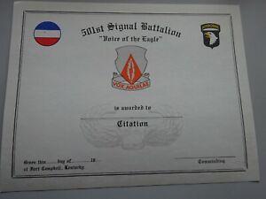 Original US Urkunde Certificate 101 Airborne Air Assault