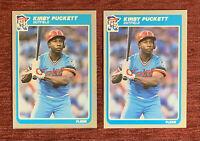 Lot of (2) 1985 Fleer KIRBY PUCKETT Rookie Card #286 RC Minnesota Twins HOF🔥