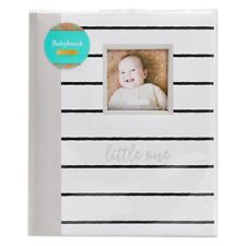 Kate& Milo Little One Baby Memory Book in Pink or Grey with Black & white stripe