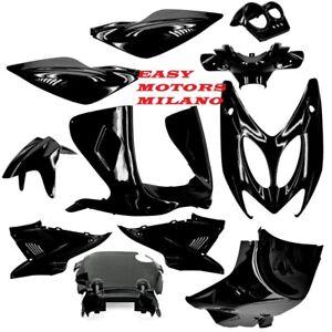 Set 11 Carenado Completo Negro Metálicos Yamaha 50 100 Cc Aerox MBK Nitro 97>12