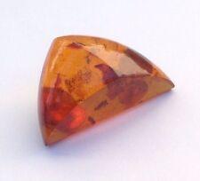 Vintage Modernist Abstract Triangular Baltic Honey Cognac Amber Pin Brooch
