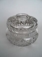 ABP Antique Cut Glass Crystal Hair Receiver  File and Fan and Star