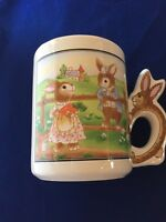 Avon Bunny Rabbit Mug Easter Spring Mug Coffee Cup Vintage NOS With Box
