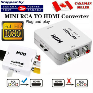 1080P HDMI To AV Adapter 3 RCA Converter Cable CVBS Composite Video Audio For TV