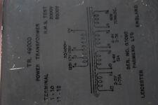 PARMEKO TR.49000 Power Transformer New Item Quantity-1