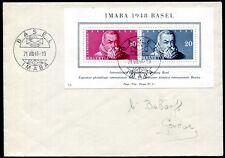 SCHWEIZ 1948 BLOCK13 FDC ERSTTAGSBRIEF 120€(D4521