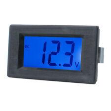 DC4-30V Digital Voltmeter Volt Meter Tester Ammeter Blue LCD Display Two Wires
