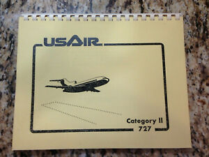 US AIR CATEGORY II BOEING 727 SPIRAL BOOKLET