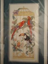 NEW SEALED Sunset In a Gilt Cage Macaw Parrot Parakeet Toucan Cross Stitch Kit