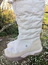 COLUMBIA Erial Waterproof Off White Camel Hiking Ski Snow BOOTS Women Shoes Sz 6