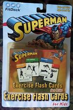 Fitdeck Superman Exercise Deck of 50 Playing Cards For Kids Ages 4-16 ~ Sealed