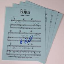 """Burt Bacharach THE BEATLES Signed Autograph """"Baby, It's You"""" Sheet Music"""