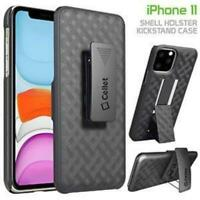 iPhone 11 Swivel Belt Clip Shell Holster Case Cover Media Kickstand Shockproof.