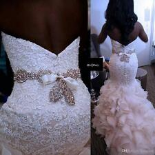 2017 New Africa Mermaid Lace Stunning Wedding Dress Bridal Gown Custom Size